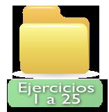 ejercicios 1 a 25
